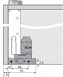 Actro 5D Vollauszug mit Silent System 350mm L bis 40kg