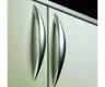 Möbelgriff  -Carvo-  Bohrabstand 128mm  Edelstahl Optik
