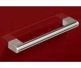 Möbelgriff -Brema-  Bohrabstand 128mm  Edelstahl Optik
