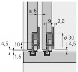 Laufteil zum Anschrauben 30kg, Slide Line 55