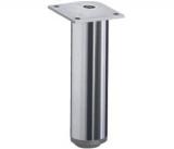 Möbelfuß Lano RO aus Aluminium poliert 120mm
