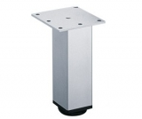 Möbelfuß Lano SQ 46 aus Aluminium silber eloxiert 100mm