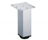 Möbelfuß Lano SQ 46 aus Aluminium silber eloxiert 120mm