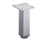 Möbelfuß Lano SQ 30 aus Aluminium silber eloxiert 80mm