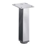 Möbelfuß Lano SQ 30 aus Aluminium poliert 80mm