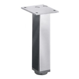 Möbelfuß Lano SQ 30 aus Aluminium poliert 100mm