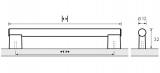 Möbelgriff  -Tomis-  Bohrabstand 184mm Aluminium eloxiert