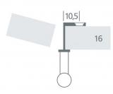Griff-Adapter für Faltschiebetüren Nickel matt   16mm