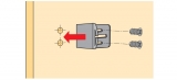 Türanschlag / Abstandhalter zum Anschrauben für STB55 Plus