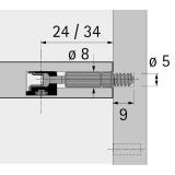 Twister Einschraubdübel für Rastex 15,  DU 320 T