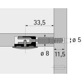 Einschraubdübel DU 262 für Rastex 25