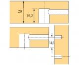 Rastex 15 für 29mm Böden mit Abdeckrand vernickelt