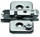CLIP Anschraub-Kreuzmontageplatte 3mm für Senkholzschrauben