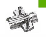 Anschraub-Kreuzmontageplatte 3mm - Spezialschrauben mit Muffen
