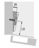Winkeladapter für Kreuzmontageplatten 10°