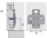 Anschraub-Kreuzmontageplatte TOP 3mm sensys, für Bohrungen 5mm
