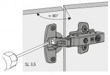 Öffnungswinkelbegrenzer für Sensys 8645i  85°