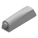 Push-To-Open Pin zum Anschrauben, lichtgrau, Kurzhub