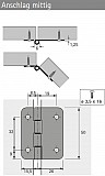 Falttürscharnier 625