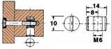 Quermutterbolzen  M6  (100 Stück)