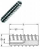 Einschraubmuffen Typ BL Stahl verz., M 12/60 mm