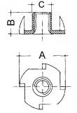 Einschlagmutter  M4  Länge 6mm  (100 Stück)