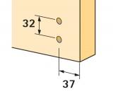 Ankörnlehre für Anschraub-Kreuzmontageplatten