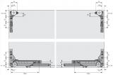Slideline M Beschlagset, gedämpfte Holzschiebetüren, 30kg