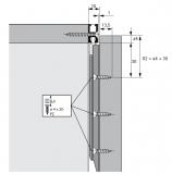 Profilset 2 Profile SlideLine M Profilhöhe 18mm, Länge 250cm