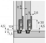 Laufteil zum Anschrauben 15kg, Slide Line 55