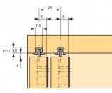 Lauf- und Führungsprofil Alu für Nutenmontage SlideLine 55