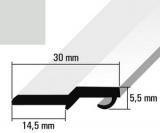 Türanschlagleiste grau RAL 7035 für 5mm Schloß   275cm