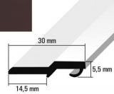 Türanschlagleiste graubraun  RAL 8019 für 5mm Schloß   275cm