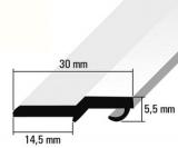 Türanschlagleiste reinweiß  RAL 9010  für 5mm Schloß   275cm