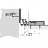 Schrankaufhänger SAH 116 zum Anschrauben (Garnitur)