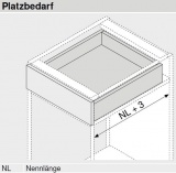 MOVENTO mit BLUMOTION S, Vollauszug 60 kg, NL=450, BLUM 766H4500S ZN