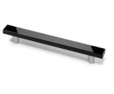 Möbelgriff -Darfo- Bohrabstand 192mm  Chrom Optik, schwarz glanz