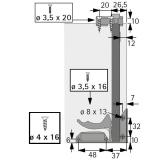 Kupplungen für Tablarböden (Garnitur)