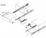 Kugelauszug KA 4532 P2O Vollauszug 500mm (Garnitur)