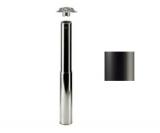 Tischbein ø80mmx690mm verstellbar bis 870mm, schwarz matt