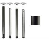 Tischbeine ø60mmx710mm, großer Verstellbereich, schwarz matt