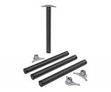 Tischbeine ø60mm x 710mm aus Stahl Oberfläche Schwarz (Set)