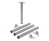 Tischbeine ø60mmx1100mm aus Stahl Oberfläche Weißaluminium (Set)