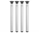 Tischbeine ø60mm x 870mm aus Stahl Oberfläche Weiß glatt (Set)