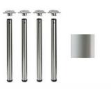 Tischbeine ø60mm x 710mm grau  RAL7035 (Set)