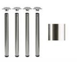Tischbeine ø60mm x 710mm Edelstahl geschliffen (Set)