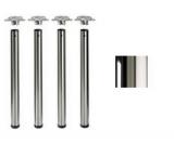 Tischbeine ø80mm x 710mm hochglanz verchromt (Set)