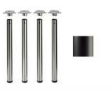 Tischbeine ø80mm x 710mm schwarz matt (Set)
