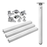 Tischbeine 50/50mm x 710mm weiß matt (Set)