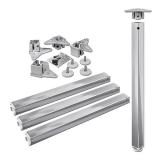 Tischbeine 50/50mm x 710mm weißaluminium (Set)